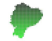 Map of Ecuador Royalty Free Stock Photos