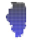 Map of Illinois Royalty Free Stock Images