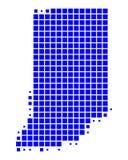 Map of Indiana Royalty Free Stock Photos