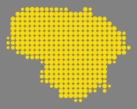 Map of Lithuania. Detailed and accurate illustration of map of Lithuania Stock Photos