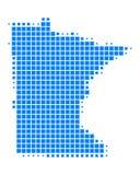 Map of Minnesota Royalty Free Stock Photography