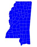 Map of Mississippi Royalty Free Stock Image