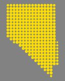 Map of Nevada. Detailed and accurate illustration of map of Nevada Royalty Free Stock Image