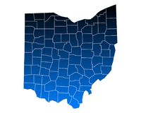 Map of Ohio Stock Photography