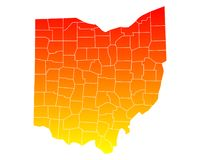 Map of Ohio Stock Images