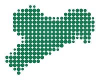 Map of Saxony Royalty Free Stock Photos