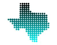 Map of Texas. Detailed and accurate illustration of map of Texas Royalty Free Stock Photos