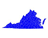 Map of Virginia Royalty Free Stock Images