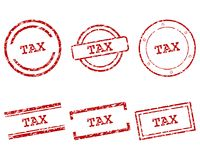Tax stamps Royalty Free Stock Image