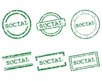 Social stamps Stock Photography