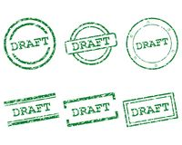 Draft stamps. Detailed and accurate illustration of mraft stamps Royalty Free Stock Image