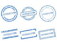 Potassium stamps Royalty Free Stock Photo