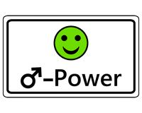 Sign happy Smiley for men power. Detailed and accurate illustration of sign happy Smiley for men power Royalty Free Stock Photography
