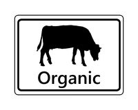 Sign for organic dairy farming. Detailed and accurate illustration of sign for organic dairy farming Stock Photo