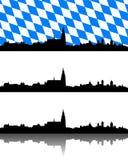 Silhouette of Regensburg, Bavaria Royalty Free Stock Image