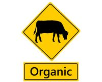 Traffic sign for organic dairy farming. Detailed and accurate illustration of traffic sign for organic dairy farming Stock Image