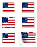 USA flag set Stock Photography
