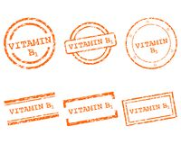 Vitamin B1 stamps. Detailed and accurate illustration of vitamin B1 stamps Royalty Free Stock Photography