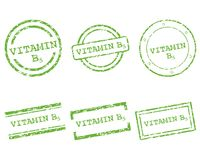 Vitamin B5 stamps Royalty Free Stock Images