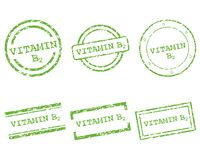 Vitamin B2 stamps. Detailed and accurate illustration of vitamin B2 stamps Royalty Free Stock Photography