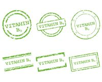 Vitamin B9 stamps. Detailed and accurate illustration of vitamin B9 stamps Stock Photography