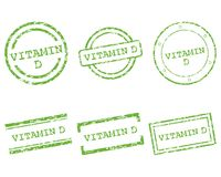 Vitamin D stamps. Detailed and accurate illustration of vitamin D stamps Royalty Free Stock Photo