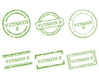 Vitamin E stamps. Detailed and accurate illustration of vitamin E stamps Stock Photos