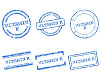 Vitamin K stamps. Detailed and accurate illustration of vitamin K stamps Royalty Free Stock Photo