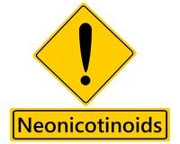 Warning sign for Neonics. Detailed and accurate illustration of warning sign for Neonics Royalty Free Stock Images