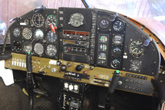 Detailed airplane cockpit Royalty Free Stock Photography