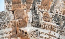 Detailed arch of Hadrian's Temple, Ephesus, Turkey Royalty Free Stock Image