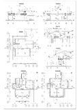 Detailed architectural plan. Floor plan, facade, section, roof plan vector illustration