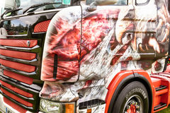 Detailed artwork of eagle on truck Stock Photos