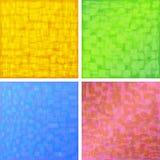 Detailed background. A set of four coloured background Vector Illustration