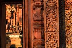 Detailed of banteay srei Temple. Banteay srei Temple, Siem reap, Cambodia Stock Photos