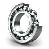 Detailed bearings production Royalty Free Stock Image