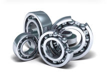 Detailed bearings production Stock Photos