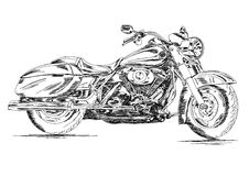Detailed Bike Vector EPS Illustration Royalty Free Stock Photography
