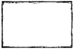 Detailed black frame grunge border Royalty Free Stock Photos