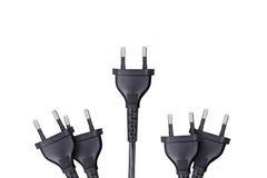 Detailed Black Plug View Stock Photo