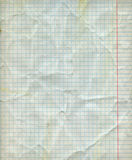 Detailed blank math paper sheet Royalty Free Stock Image