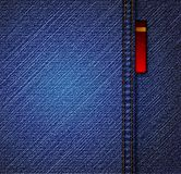 Detailed blue jeans texture. Vector Stock Photos