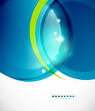 Detailed blue wavy vector abstract background Royalty Free Stock Photos