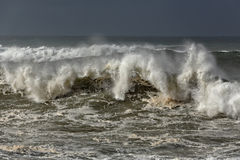 Detailed breaking wave Stock Photo