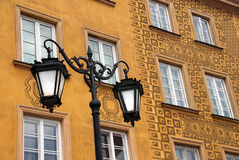 Detailed Building in Warsaw Royalty Free Stock Photos
