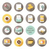 Detailed business web icons vector stock illustration