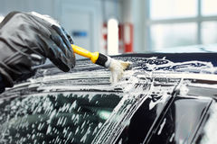 Detailed car wash. Detailed vehicle cleaning to washing Royalty Free Stock Photography