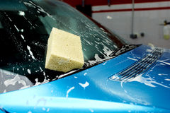 Detailed car wash. Detailed vehicle cleaning to washing Stock Image