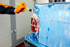 Detailed car wash. Detailed vehicle cleaning to washing Royalty Free Stock Images