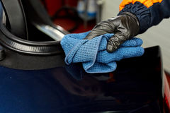 Detailed car wash. Detailed vehicle cleaning to washing Stock Images